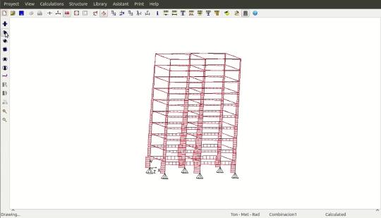 Estru3D 0.1.0: Software de dimensionamento de estruturas para Linux