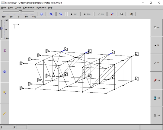 Fachwerk3D 0.44: Dimensionamento de estruturas espaciais