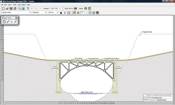 West Point Bridge Designer v10