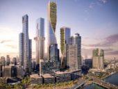 """Imagem do dia: Arranha-céus na Austrália ficarão unidos por uma """"coluna vertebral"""" verde"""