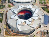 Imagem do dia: A incrível cobertura móvel do Estádio Mercedes-Benz