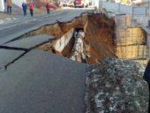 Imagem do dia: O colapso de um trecho rodoviário com 30 metros de comprimento na Rússia