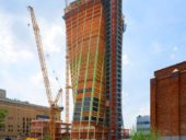 Imagem do dia: Concluída estrutura da primeira das torres do complexo Eleventh em Manhattan