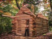 Imagem do dia: Construção de uma casa de toros de madeira em 5 minutos