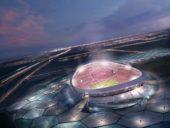 Construção do maior estádio do Mundial de Futebol FIFA 2022