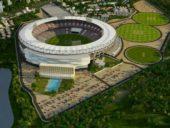 Imagem do dia: Construção do maior estádio de cricket do mundo na Índia