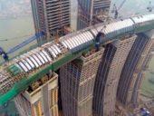 Imagem do dia: Construção do mais alto arranha-céus horizontal do mundo aproxima-se da conclusão
