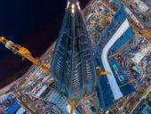 Imagem do dia: Construção do mais alto edifício da Europa aproxima-se da conclusão