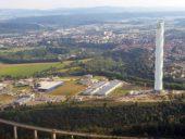Imagem do dia: Conclusão da construção da torre de testes de elevadores de Rottweil