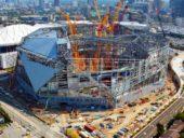 Imagem do dia: Construção do ultra-sustentável Estádio Mercedes Benz em Atlanta