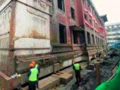 Imagem do dia: Engenheiros Civis deslocam edifício de 5000 toneladas na China