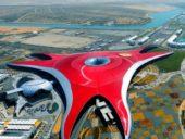 """Imagem do dia: A """"nave mãe"""" da Ferrari que aterrou em Abu Dhabi"""