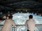 Engenheiros norte-americanos constroem gigantesco modelo hidráulico do delta do Mississípi