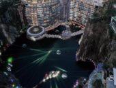 Imagem do dia: Chineses constroem hotel em pedreira abandonada com 88 metros de profundidade