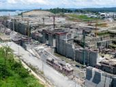 Timelapse da obra de expansão do Canal do Panamá em 4K