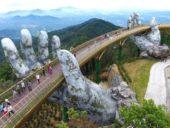 Imagem do dia: Uma ponte suportada por mãos de pedra gigantes no Vietname