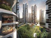 Imagem do dia: Projeto de construção das icónicas Torres de Gangnam