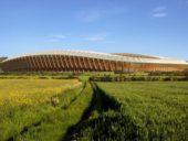 Imagem do dia: Já é conhecido o projeto do primeiro estádio de futebol totalmente construído em madeira