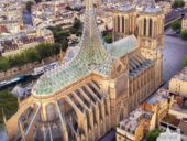 Imagem do dia: Proposta de reconversão da Catedral de Notre Dame prevê gigantesca espira de vidro
