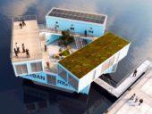 Imagem do dia: Projetistas dinamarqueses criam residência universitária flutuante com contentores